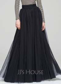 A-Line/Princess Floor-Length Tulle Cocktail Skirt ...