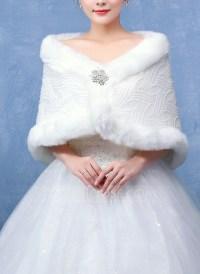 Faux Fur Wedding Shawl (013096712) - Wraps - JJ's House