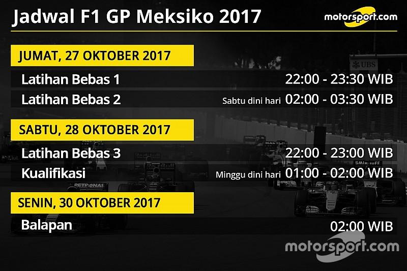 Jadwal lengkap F1 GP Meksiko 2017  Berita Formula 1