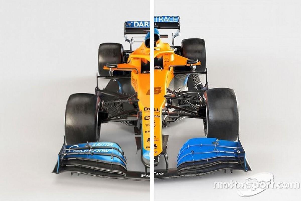 vergleich formel 1 autos 2021 vs 2020