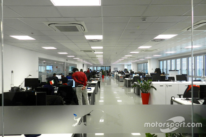 Office in the Scuderia Toro Rosso workshop at Scuderia Toro Rosso workshop visit