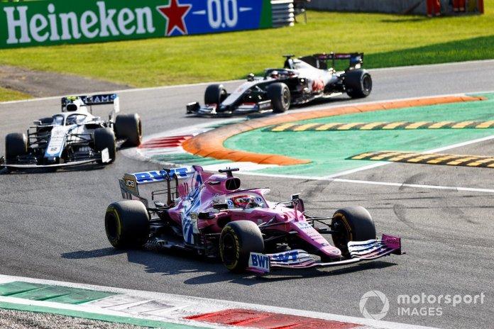 Sergio Pérez, Racing Point RP20, Nicholas Latifi, Williams FW43