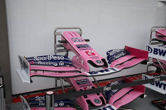Racing Point RP19, front wing