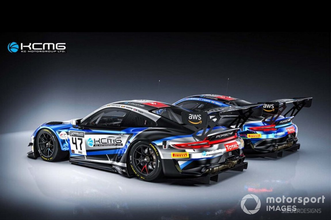 # 18 KCMG, Porsche 911 GT3 R: Josh Burdon, Alexandre Imperatori, Edoardo Liberati, # 47 KCMG, Porsche 911 GT3 R: Nick Tandy, Laurens Vanthoor, Maxime Martin