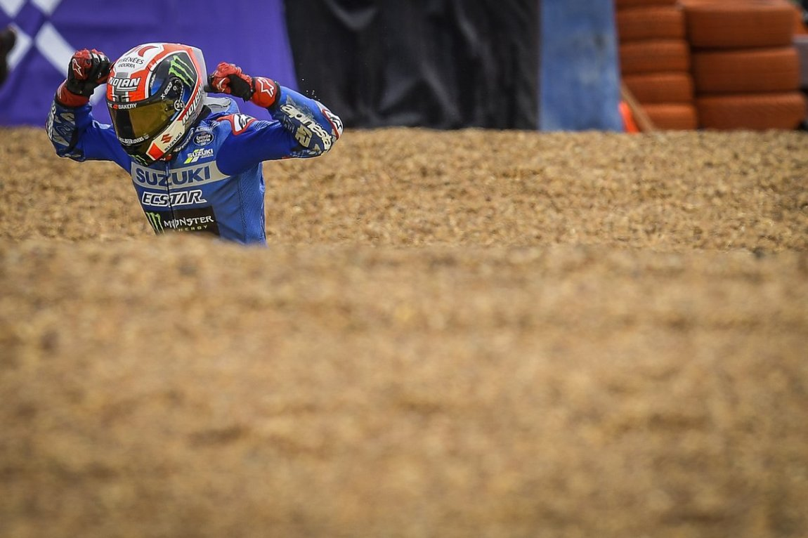 Caída de Alex Rins, Suzuki MotoGP Team