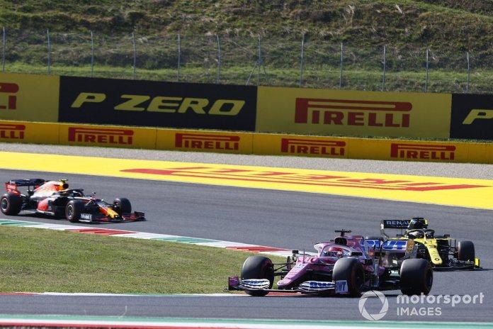 Sergio Pérez, Racing Point RP20, Daniel Ricciardo, Renault F1 Team R.S.20, Alex Albon, Red Bull Racing RB16