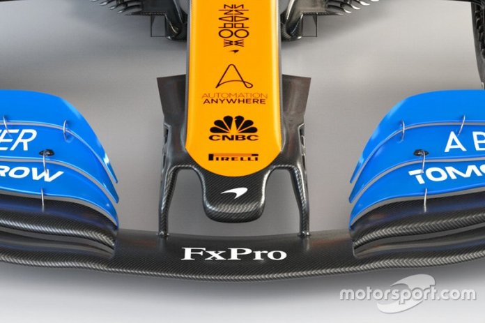 McLaren MCL35 detalle de la nariz