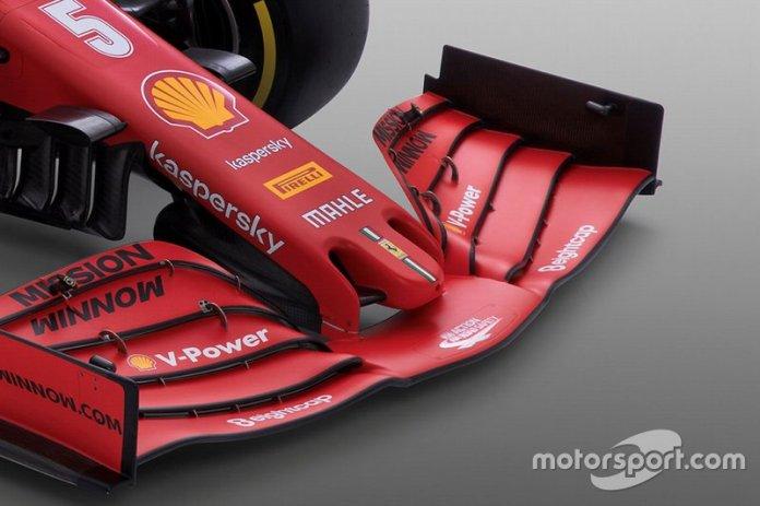 Ferrari SF1000, detalle del alerón delantero