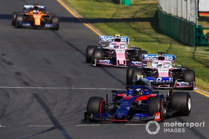 Su primera carrera en el GP de Australia