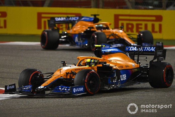 Lando Norris, McLaren MCL35M Daniel Ricciardo, McLaren MCL35M