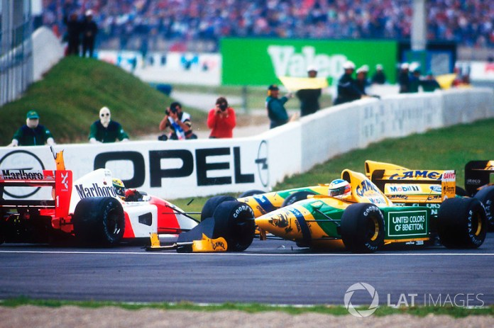 1992 French GP, SHOCK WITH AYRTON SENNA