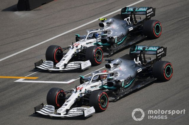 Lewis Hamilton and Valtteri Bottas, Mercedes AMG W10
