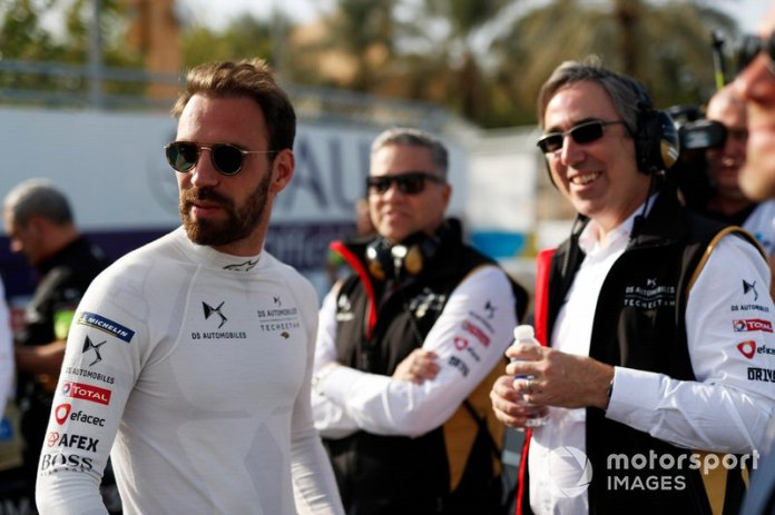 Jean-Eric Vergne, DS Techeetah, con Mark Preston, Team Principal, DS Techeetah