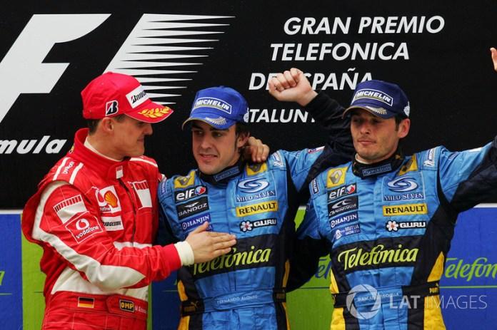 30- Fernando Alonso, 1º en el GP de España 2006 con Renault