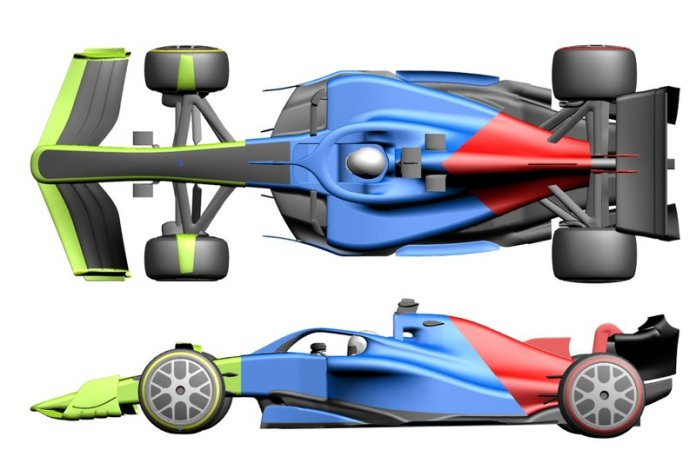 Sketch of the F1 2021