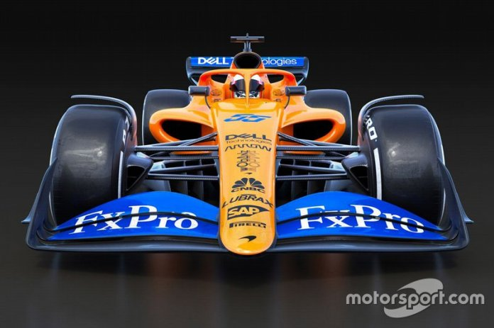 Boceto de McLaren F1 2021 F1