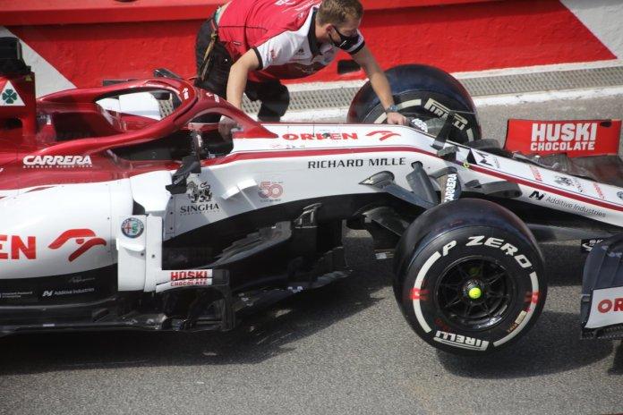 Detalles de los pontones del Alfa Romeo Racing C39