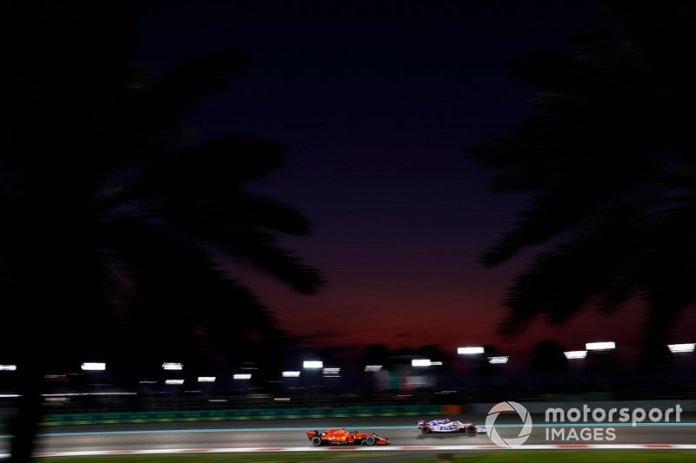 Lance Stroll, Racing Point RP19, Charles Leclerc, Ferrari SF90