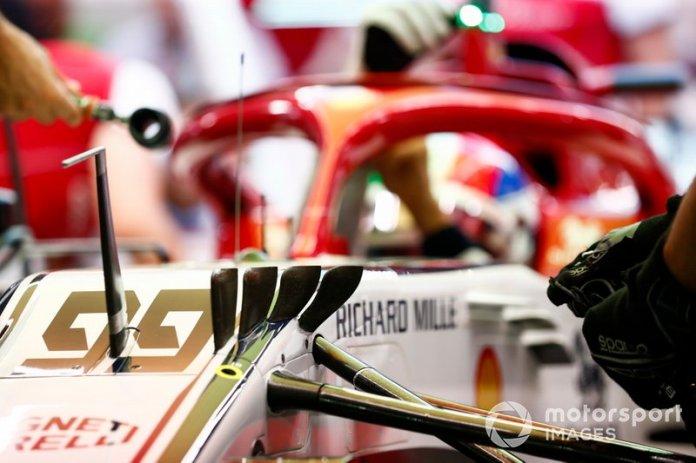 Mecánica en el Antonio Giovinazzi Alfa Romeo Racing C38