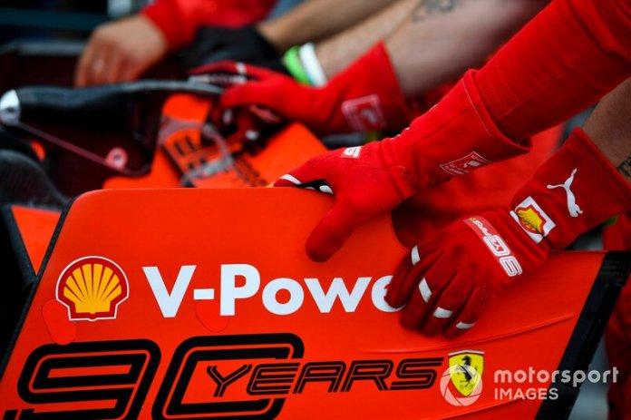 El alerón trasero del Ferrari SF90