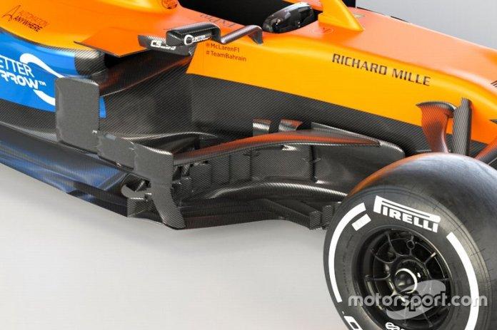 McLaren MCL35, dettaglio del barge board