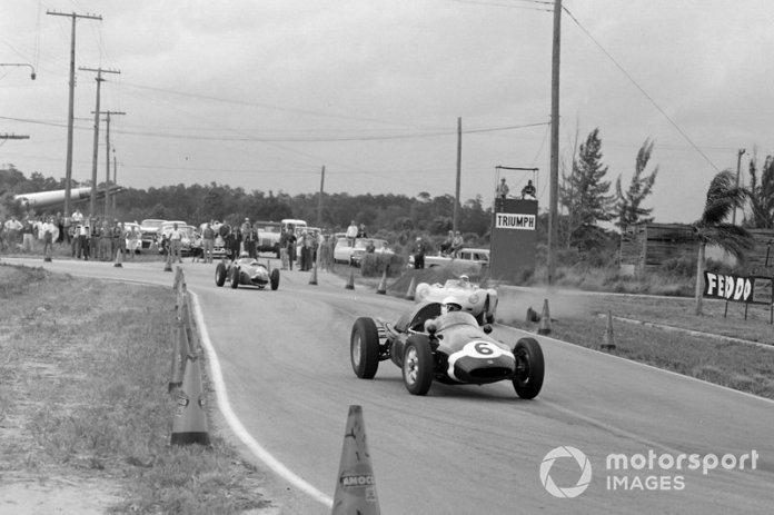 Maurice Trintignant, Cooper T51 Climax, Harry Blanchard, Porsche RSK, y Wolfgang von Trips, Ferrari 246