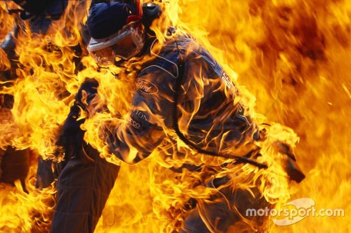En el GP de 1994 durante la parada en boxes de Jos Verstappen en el Benetton B194 Ford, terminó siendo un desastre cuando se la manguera de reabastecimiento se safo regando el combustible transformándose en una bola de fuego sobre el monoplaza y los mecánicos del equipo.
