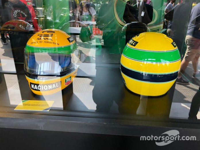 Capacetes de Ayrton no Festival Senna Tribute