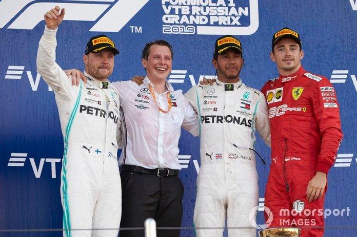 Tercero en el GP de Rusia