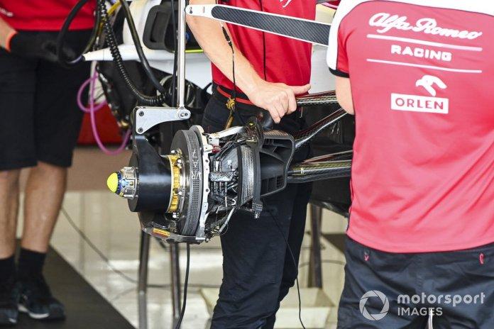 Frenos delanteros del Alfa Romeo Racing C39