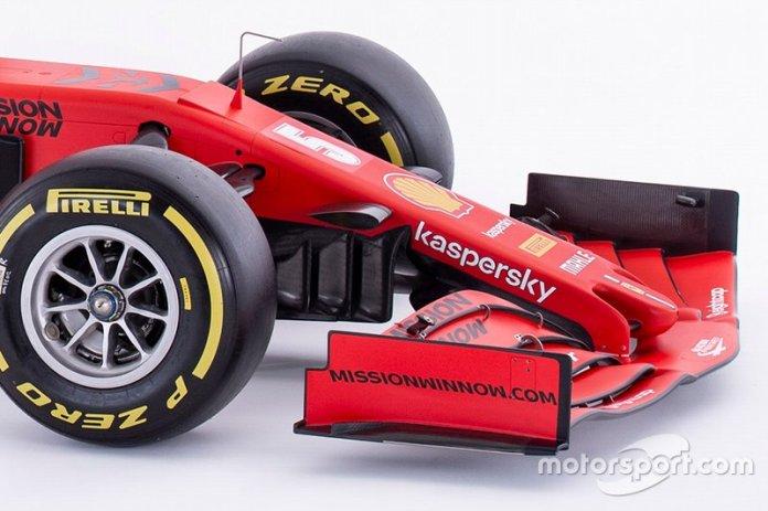Ferrari SF1000 detalle del alerón delantero