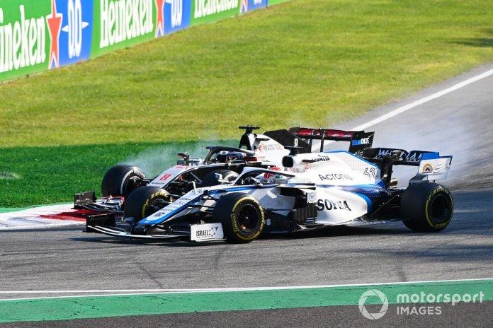 George Russell, Williams FW43, Romain Grosjean, Haas VF-20