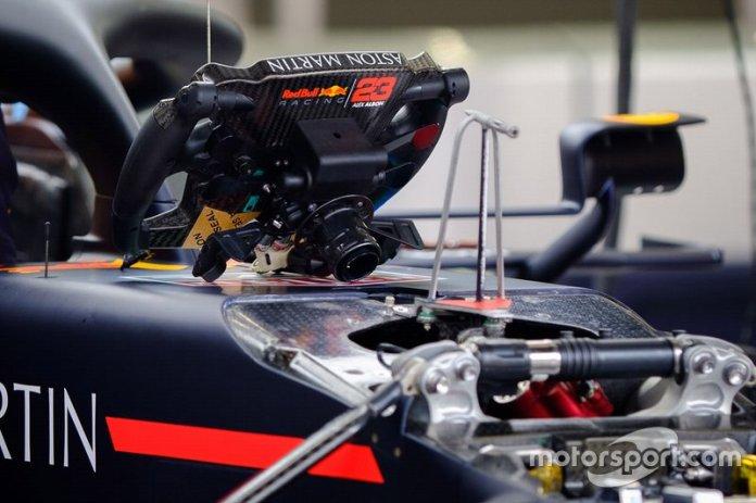 A Red Bull Racing steering wheel