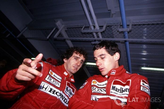 """""""La diferencia es que yo creo en Dios y Senna se cree Dios"""". Alain Prost"""