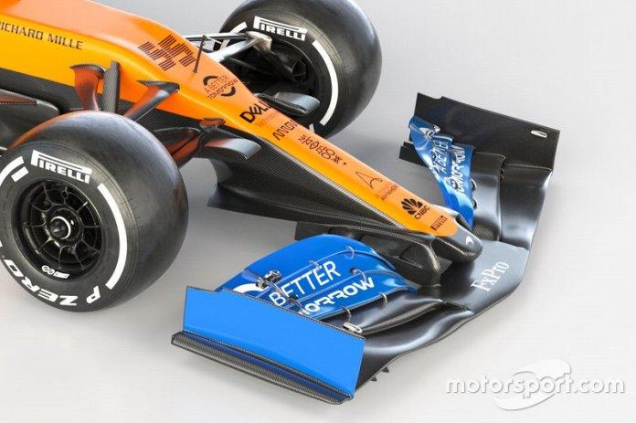 McLaren MCL35 alerón delantero