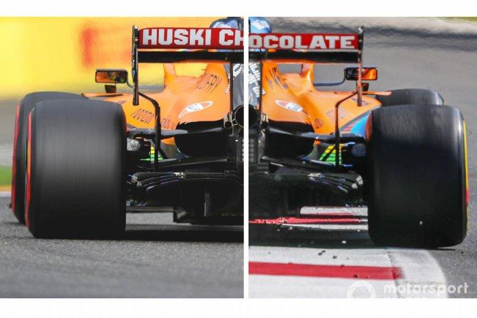 Parte trasera del McLaren MCL35