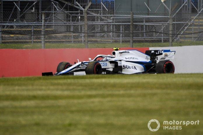 Nicholas Latifi, Williams FW43 spins