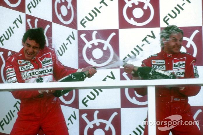29. GP de Japón 1991: Gerhard Berger y Ayrton Senna (McLaren)