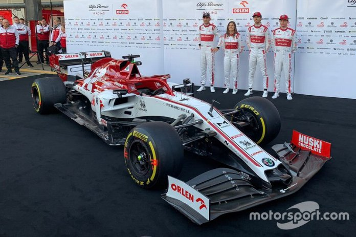 Tatiana Calderón, Robert Kubica, Antonio Giovinazzi, Kimi Raikkonen, Alfa Romeo