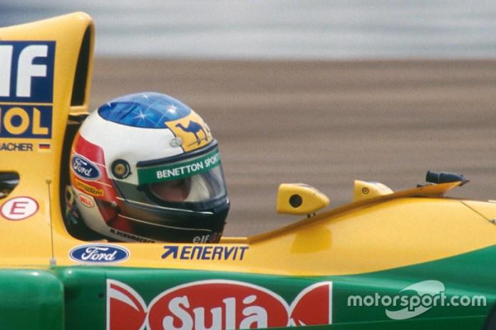1993: segundo año completo en Benetton, Schumacher cambia de marca de casco
