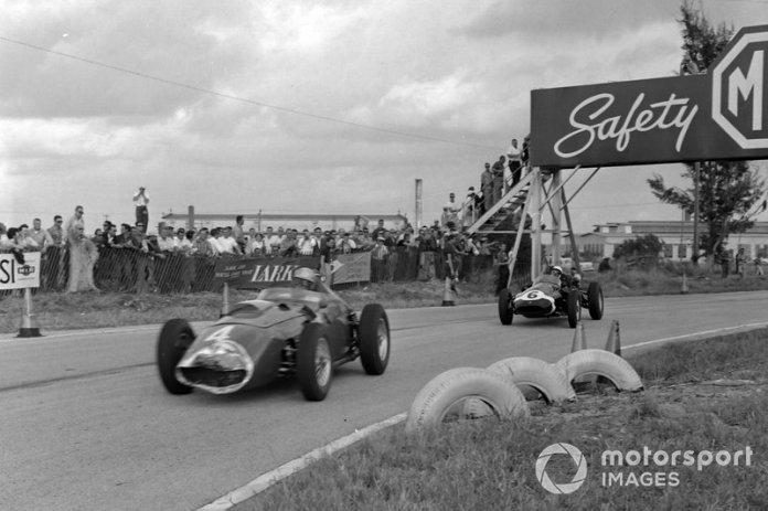 Wolfgang von Trips, Ferrari 246, Maurice Trintignant, Cooper T51 Climax