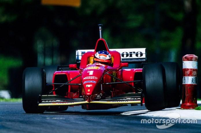1996: el casco de su primer triunfo con Ferrari