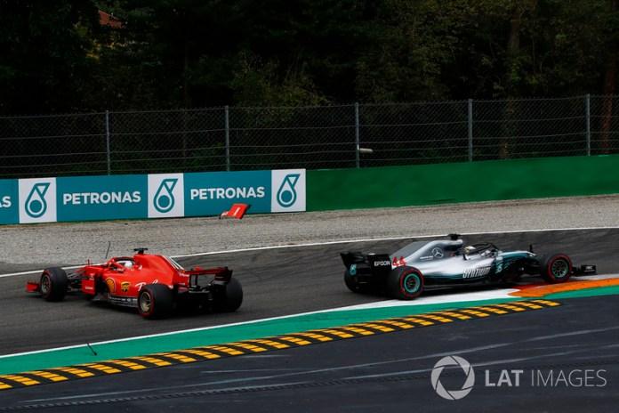 Italia 2018: peleando con Hamilton tras la salida pierde el control y opciones de título.