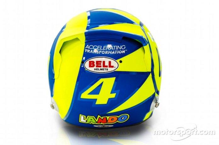 El casco de Lando Norris, McLaren, para el GP de Italia