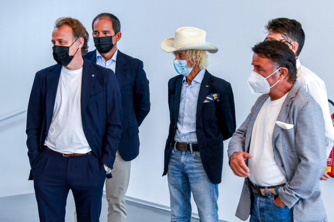 Luca Badoer, Arturo Merzario and Renè Arnoux