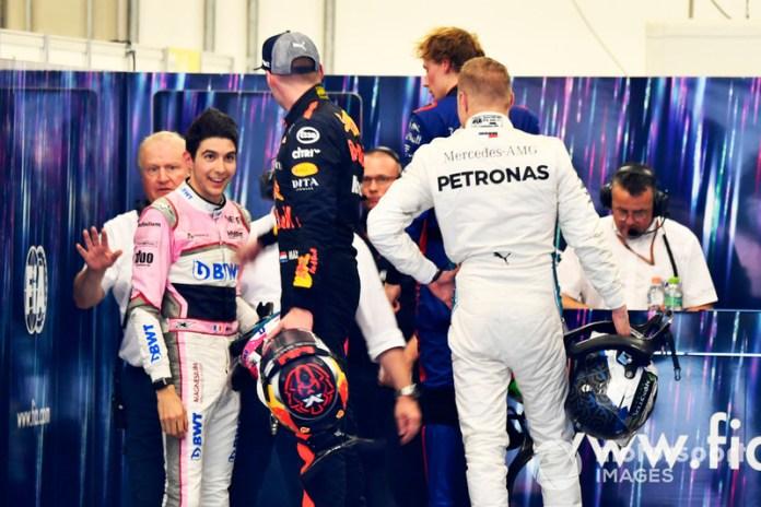 ...y el año pasado, al enfrentarse con Esteban Ocon, perdiendo el liderato y la victoria ante Hamilton, lo que llevó a un duelo en la zona de pesaje.