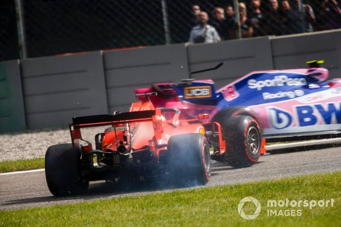 Incidente de Lance Stroll, Racing Point RP19, y Sebastian Vettel, Ferrari SF90
