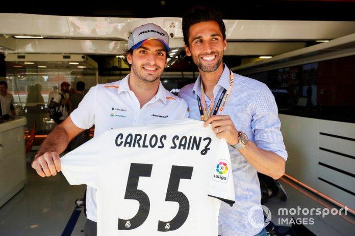 Carlos Sainz Jr, McLaren y Álvaro Arbeloa, Futbolista