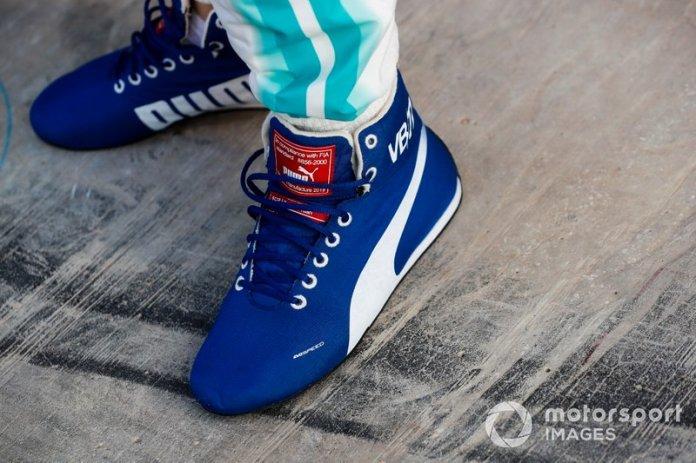 Los zapatos de Valtteri Bottas Mercedes AMG F1