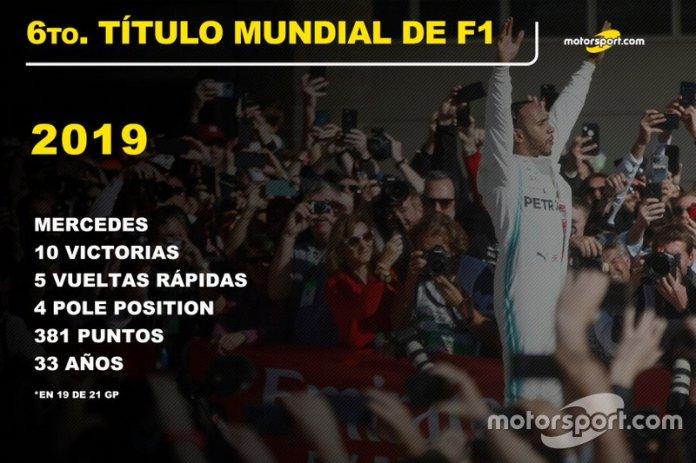 Lewis Hamilton, Mercedes Título Mundial 2019